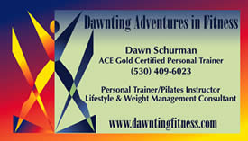 Dawnting Adventures in Fitness business card