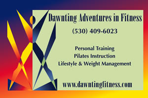 Dawnting Adventures in Fitness magnetic car signs