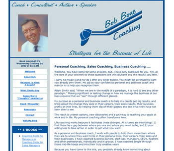 Bob Bone's website homepage